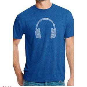 NEW graphic LA pop art word art music genre shirt